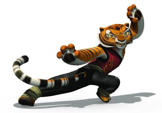 Mouvements Kung fu panda : la posture du tigre